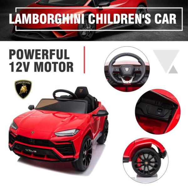12V Lamborghini Ride On Car With Remote Control, Red 12v remote control kids electric police car red 45 2