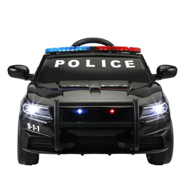 12v Remote Control Kids Electric Police Car,Black 12v remote control kids electric police carblack 0
