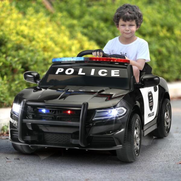 12v Remote Control Kids Electric Police Car,Black 12v remote control kids electric police carblack 14