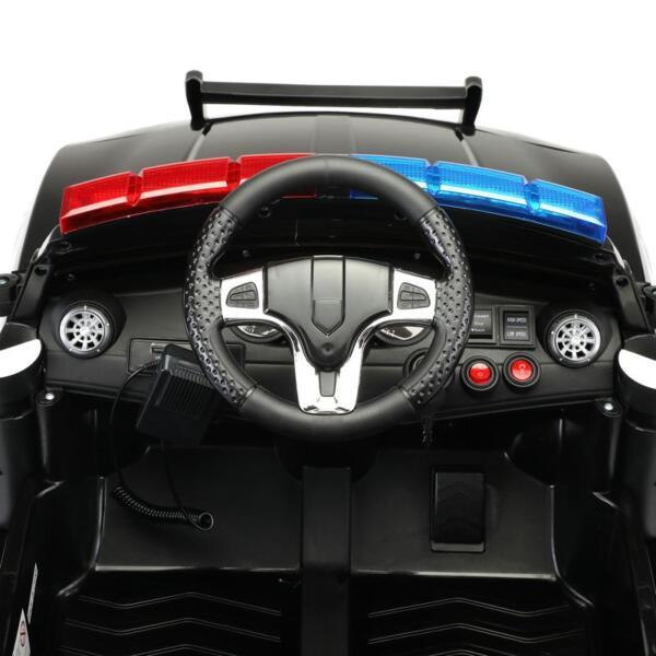 12v Remote Control Kids Electric Police Car,Black 12v remote control kids electric police carblack 19