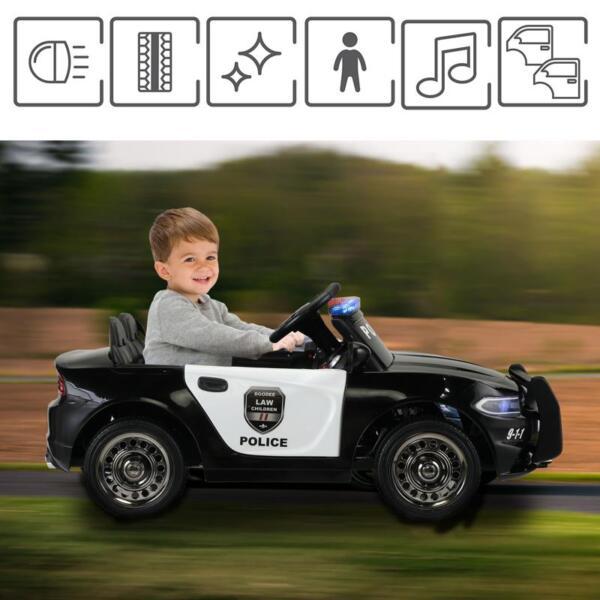 12v Remote Control Kids Electric Police Car,Black 12v remote control kids electric police carblack 27