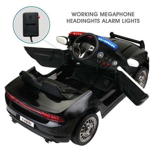 12v Remote Control Kids Electric Police Car,Black 12v remote control kids electric police carblack 28