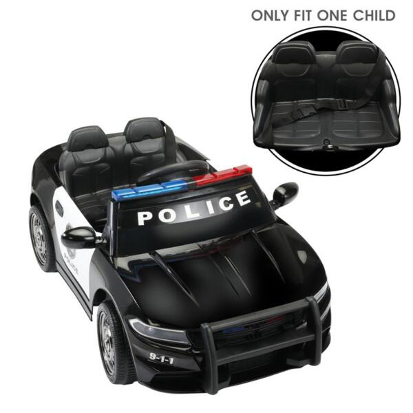 12v Remote Control Kids Electric Police Car,Black 12v remote control kids electric police carblack 29