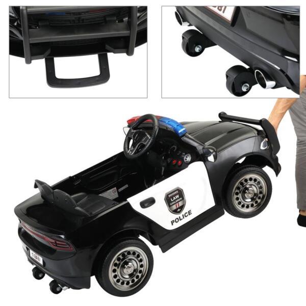 12v Remote Control Kids Electric Police Car,Black 12v remote control kids electric police carblack 31