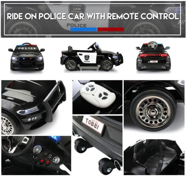 12v Remote Control Kids Electric Police Car,Black 12v remote control kids electric police carblack 32