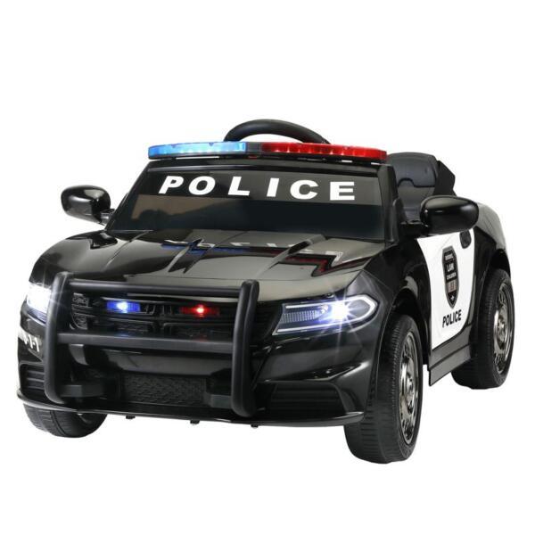 12v Remote Control Kids Electric Police Car,Black 12v remote control kids electric police carblack 7