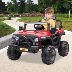 Selling 12v remote control kids ride on truck red 10 best selling on TOBBI