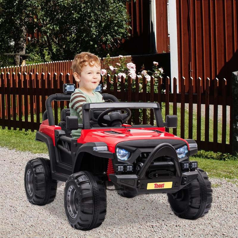 Red Kids Truck Ride On Battery Powered Car Toy 12v remote control kids ride on truck red 12
