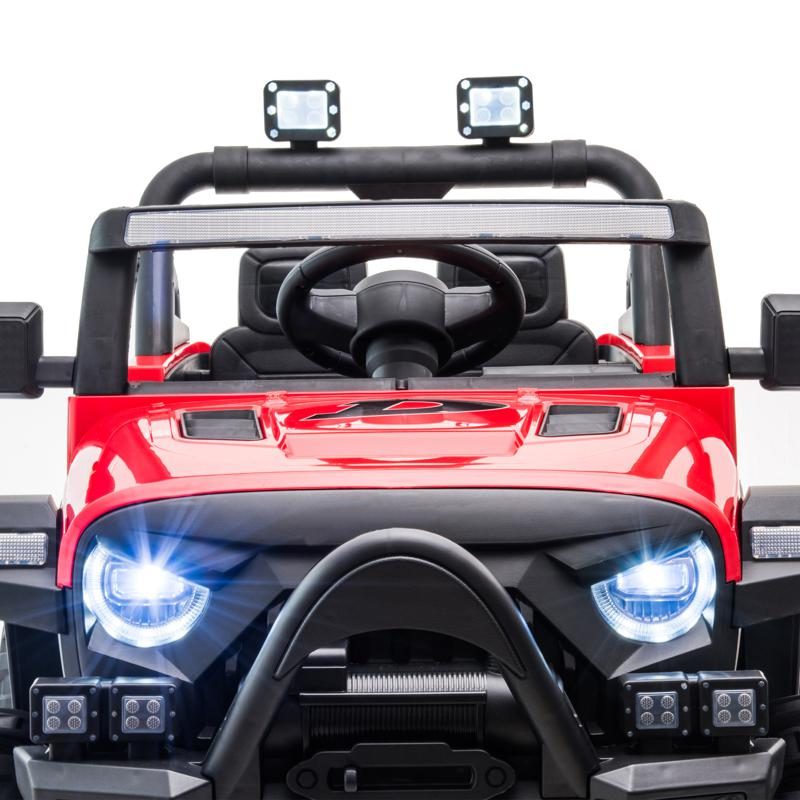 Red Kids Truck Ride On Battery Powered Car Toy 12v remote control kids ride on truck red 24