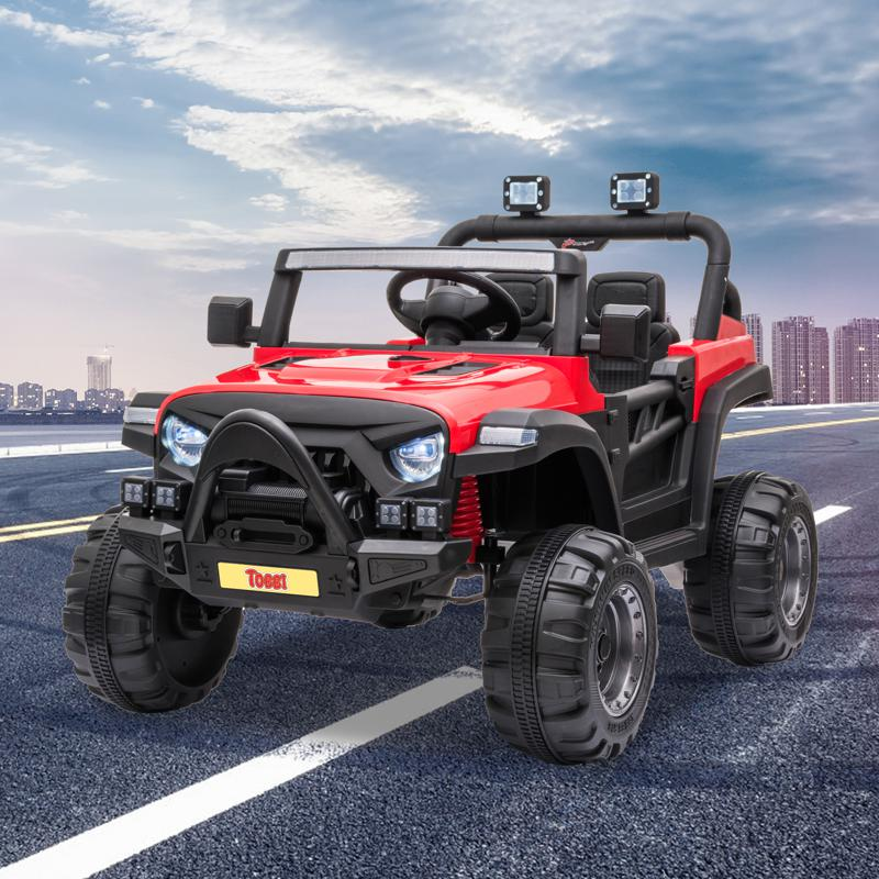 12V RC Kids Ride-on Off-Road Truck, Red