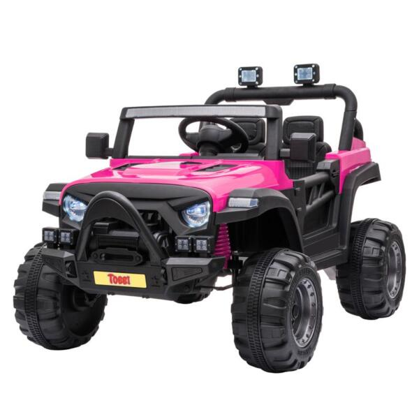 RC Toy Trucks for Kids 2 Seater Ride On Car 12v remote control kids ride on truck rose red 1