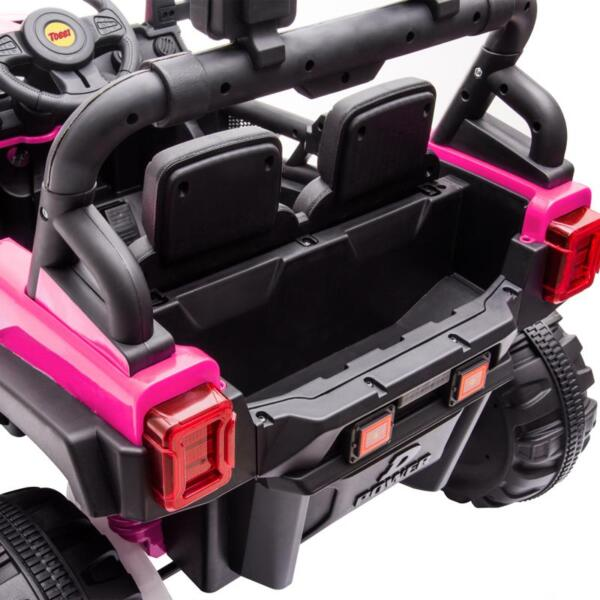 RC Toy Trucks for Kids 2 Seater Ride On Car 12v remote control kids ride on truck rose red 16