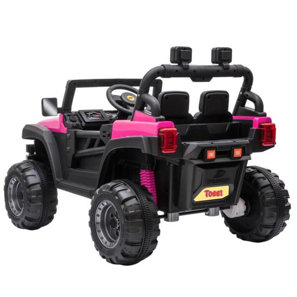 RC Toy Trucks for Kids 2 Seater Ride On Car 12v remote control kids ride on truck rose red 3