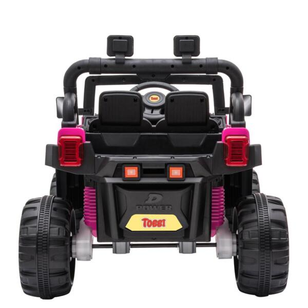 RC Toy Trucks for Kids 2 Seater Ride On Car 12v remote control kids ride on truck rose red 4
