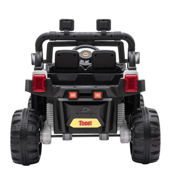 12v Remote Control Kids Ride On Truck, White 12v remote control kids ride on truck white 4