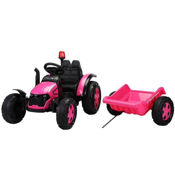 12V Kids Electric Ride On Tractor with Big Scoop, Rose Red 12v ride on tractor for kids rose red 2