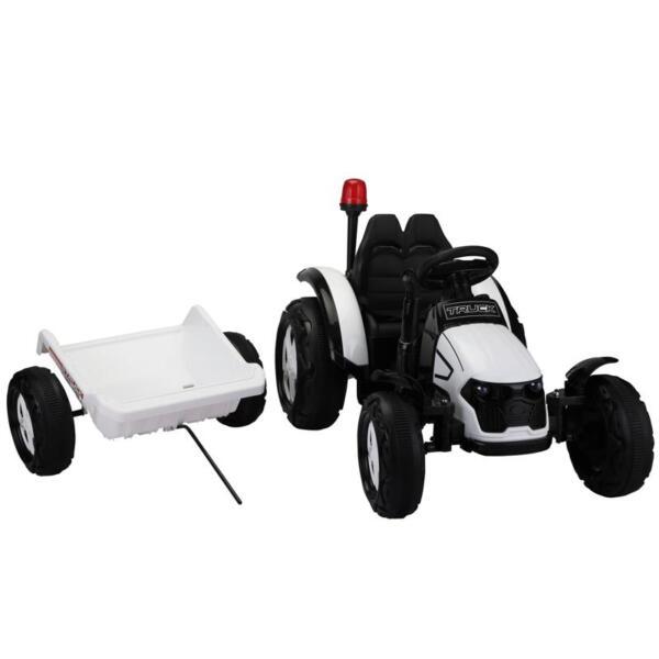 12v Ride on Tractor for Kids, White 12v ride on tractor for kids white 20