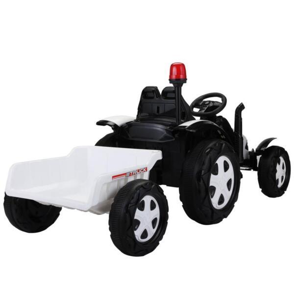 12v Ride on Tractor for Kids, White 12v ride on tractor for kids white 29