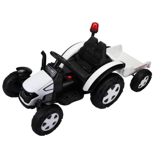 12v Ride on Tractor for Kids, White 12v ride on tractor for kids white 30