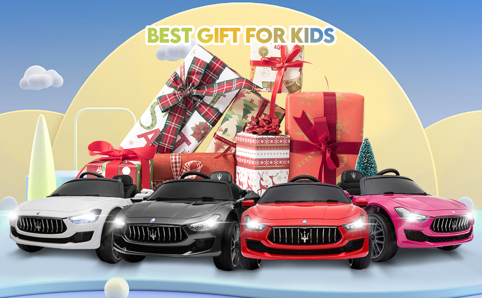 Maserati Kids Car 12V Ride On With Remote, Red 13 20