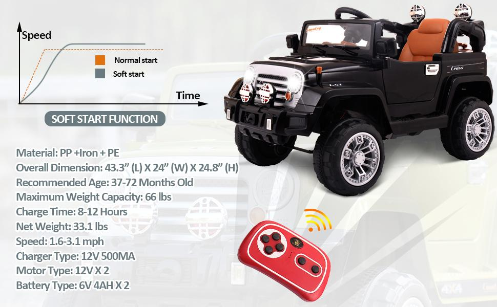 12V Kid Truck Ride on Baby Cars with Remote 15 12 ride on