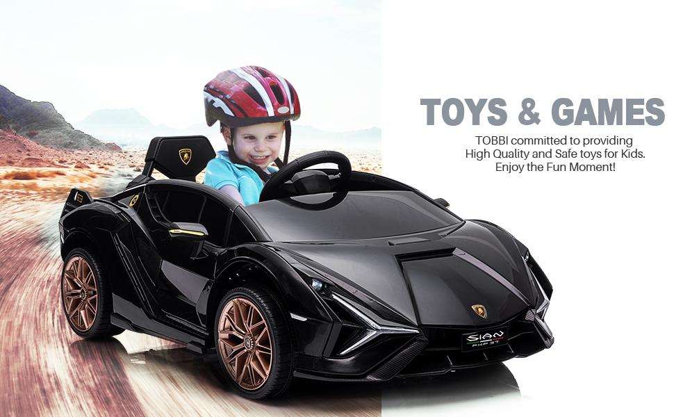 12V Lamborghini Sian Ride on Kids Electric Car with Remote Control, Black 15 4