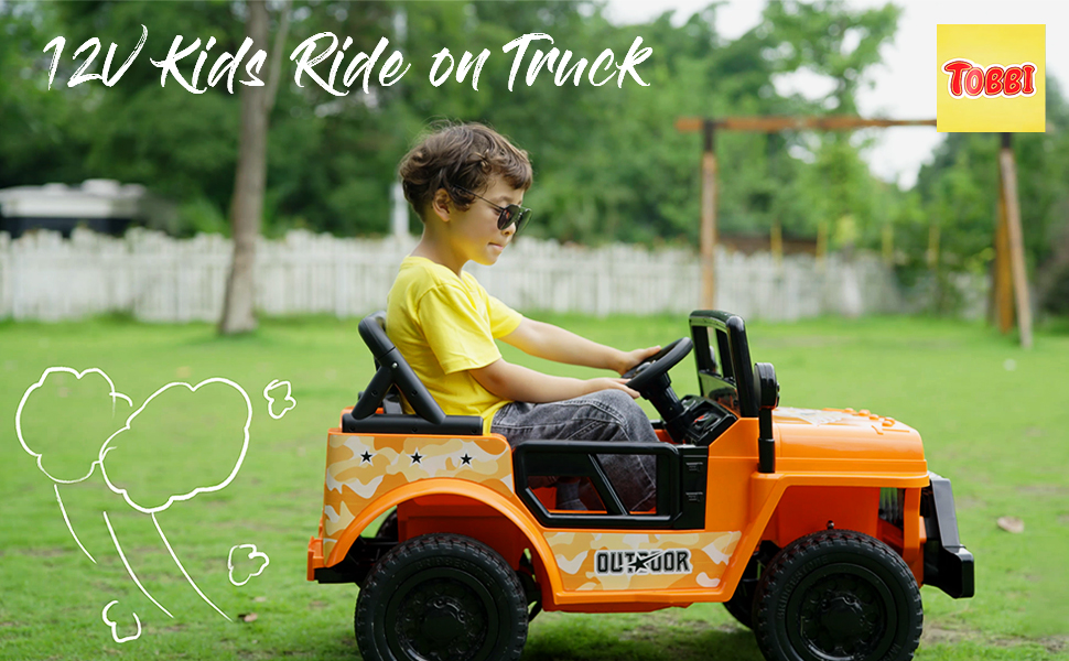 Battery Powered Kid's Car Truck with Double Doors, 12V 16 7