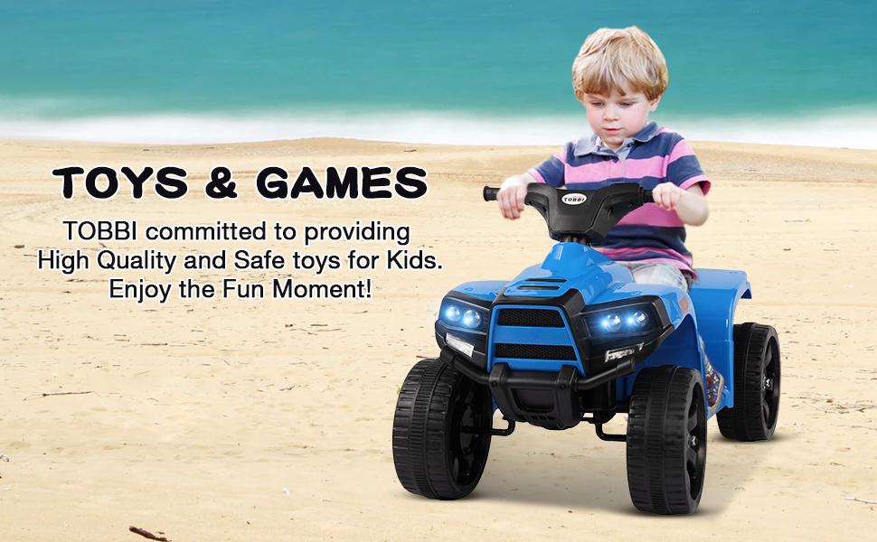 Four Wheeler Electirc Ride On Quad ATV For Kids, Blue 17 4