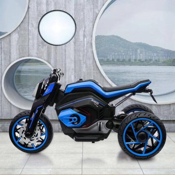 12V Kids Motorcycle Toy 3 Wheels Electric Trike for Boys and Girls 2 1 1