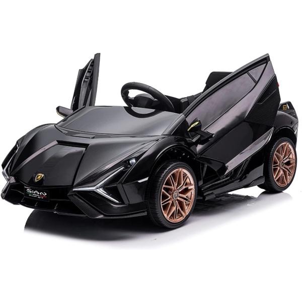 12V Lamborghini Sian Ride on Kids Electric Car with Remote Control, Black 2 10