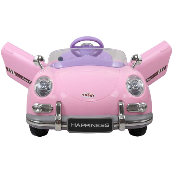 Vintage Style Battery Powered Kids Ride on Car with Remote Control, Pink 2 13