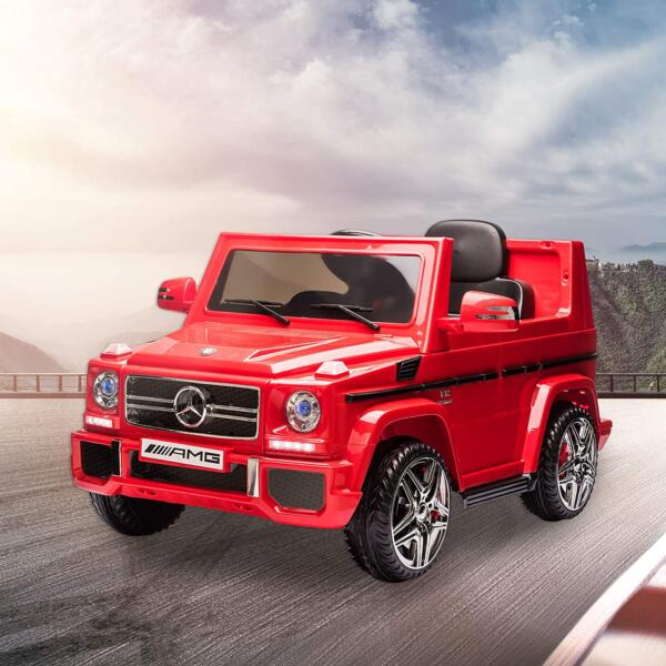 12V Licensed Mercedes Benz G65 Electric Ride on Car for Kids with Remote Control, Red 2 15