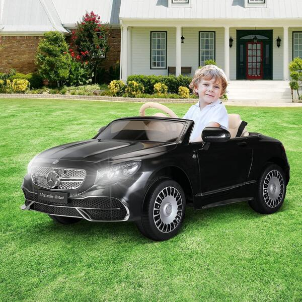 TOBBI 12V Ride on Car with Remote Control, Mercedes-Maybach S650 Electric Ride on Vehicles Cars for Kids w/ MP3 Bluetooth, Black 2 16