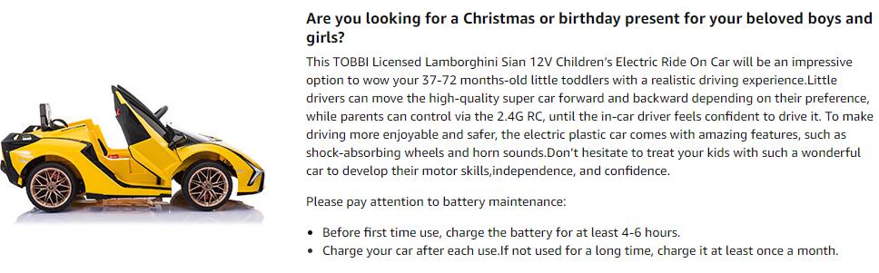 Licensed Lamborghini Sian Car Toy w/ Scissor Door 2 19