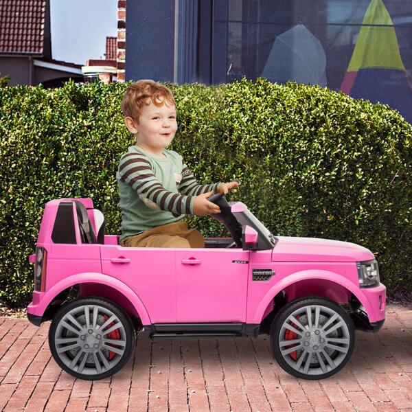 12V Licensed Land Rover Power Wheels Ride on SUV for Kids with Remote Control, Pink 2 27