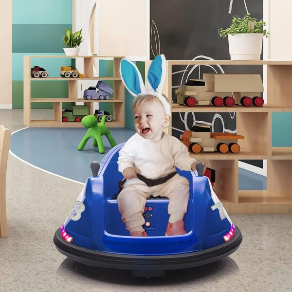 6V Electric Baby Bumper Car with Remote Control, Dark Blue 2 29