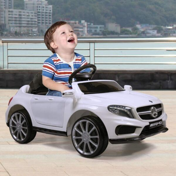 Licensed Mercedes Benz RC Car Toy with Double Doors, White 2 35