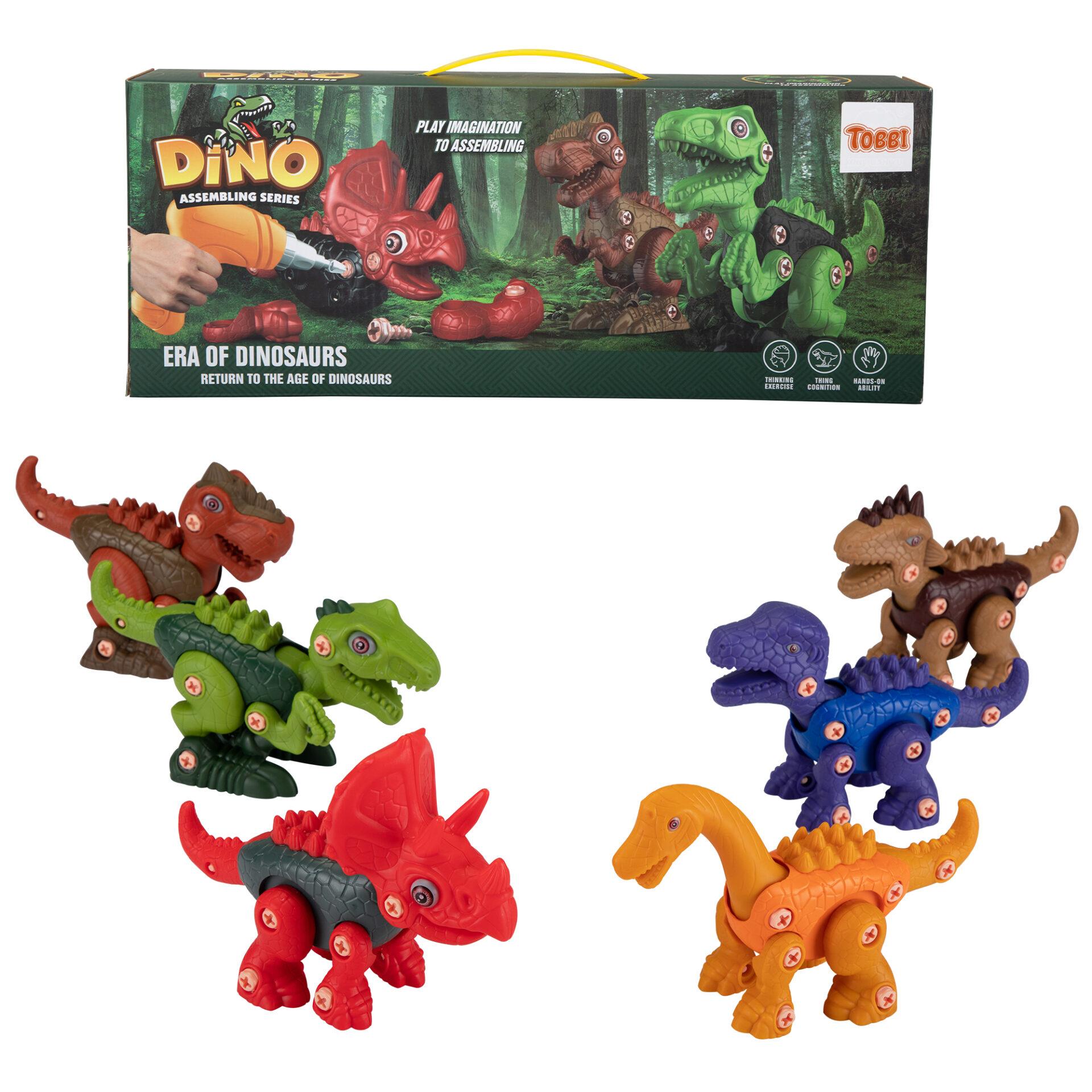6 Packs DIY Building Dinosaur Toys Set 2 4