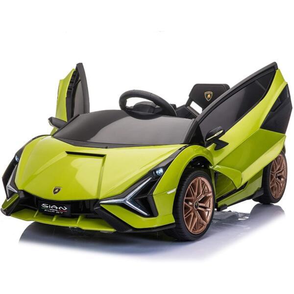 12V Licensed Lamborghini Sian Children's Electric Ride On Car, Green 2 42