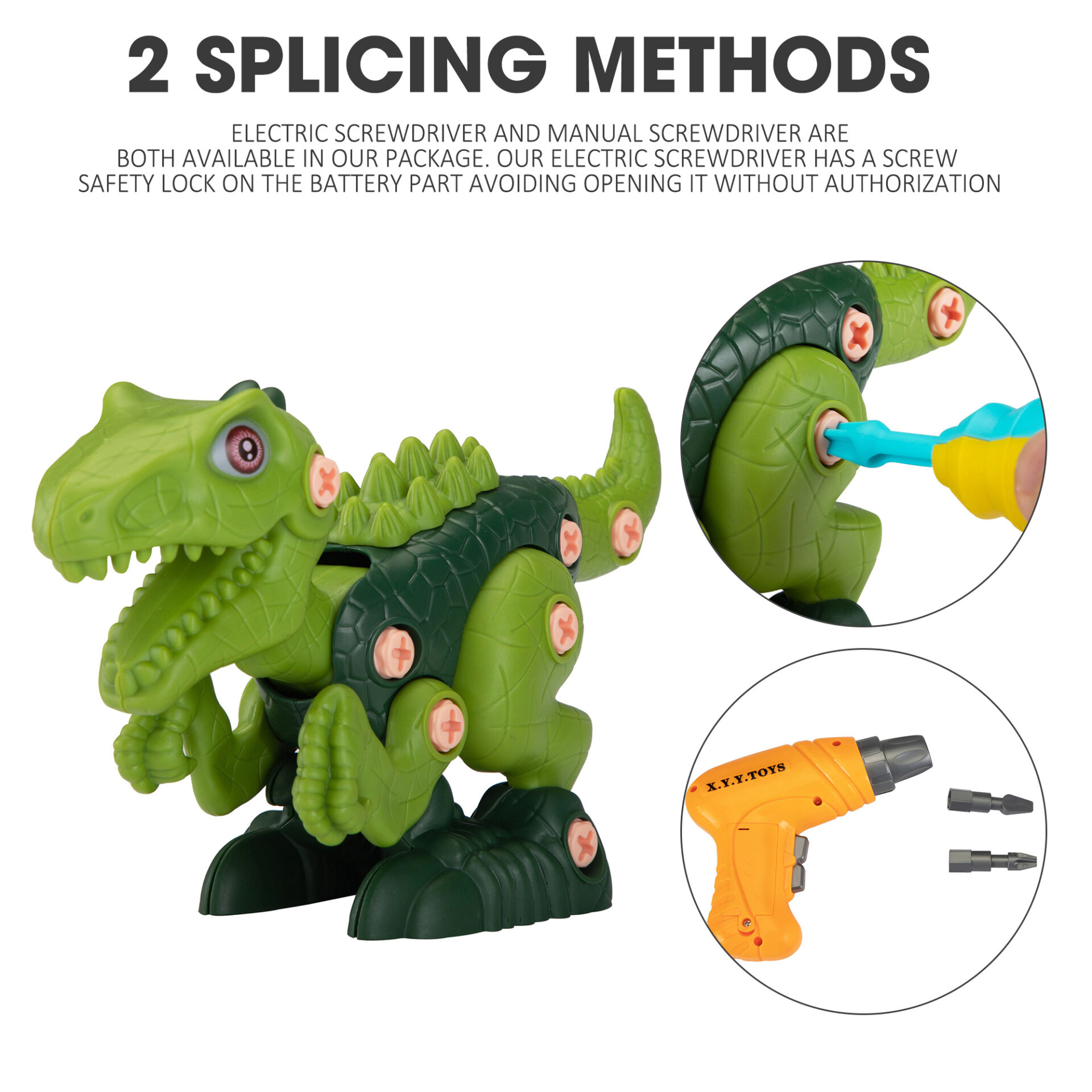 3 Packs Dinosaurs Construction Building Toy Set 2 5