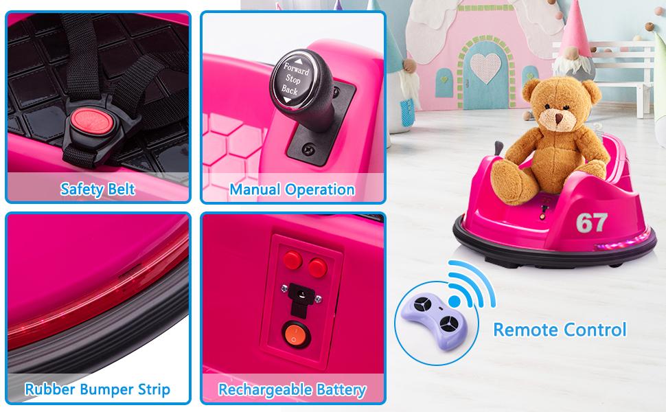 6V Children's Electric Bumper Car with Remote Control 2 50