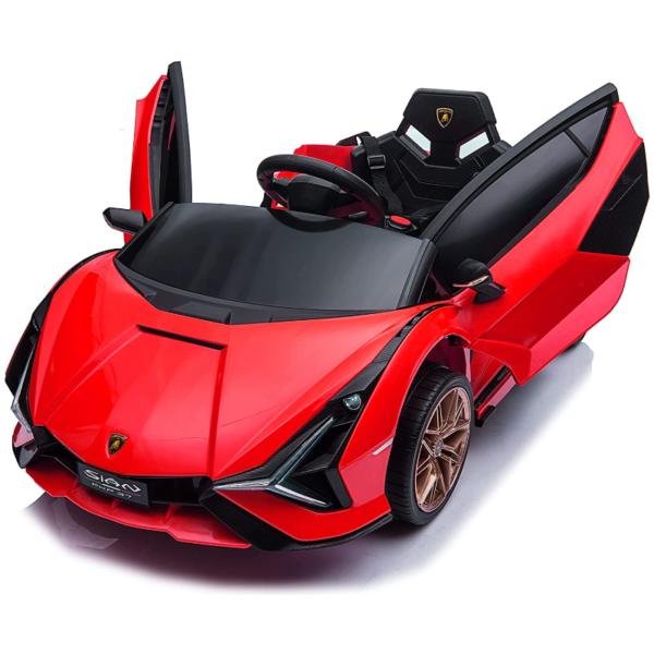 12V Lamborghini Sian Electric Kids Ride On Car with Remote Control, Red 2 6
