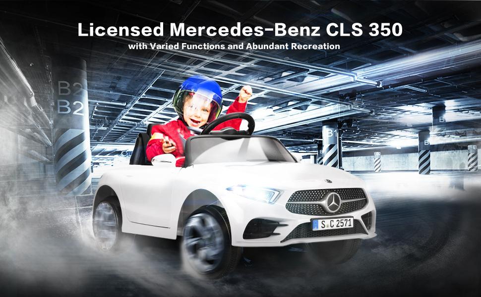 12V Electric Car for Kids Licensed Mercedes Benz CLS 350 Ride On Car 2 65