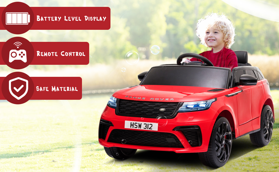 12V Licensed Range Rover Vehicle Ride On Car with Remote 2 67