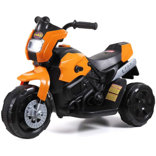 6V Kids Motorcycle Battery Powered Motorcycle for Kids, Orange 2 7