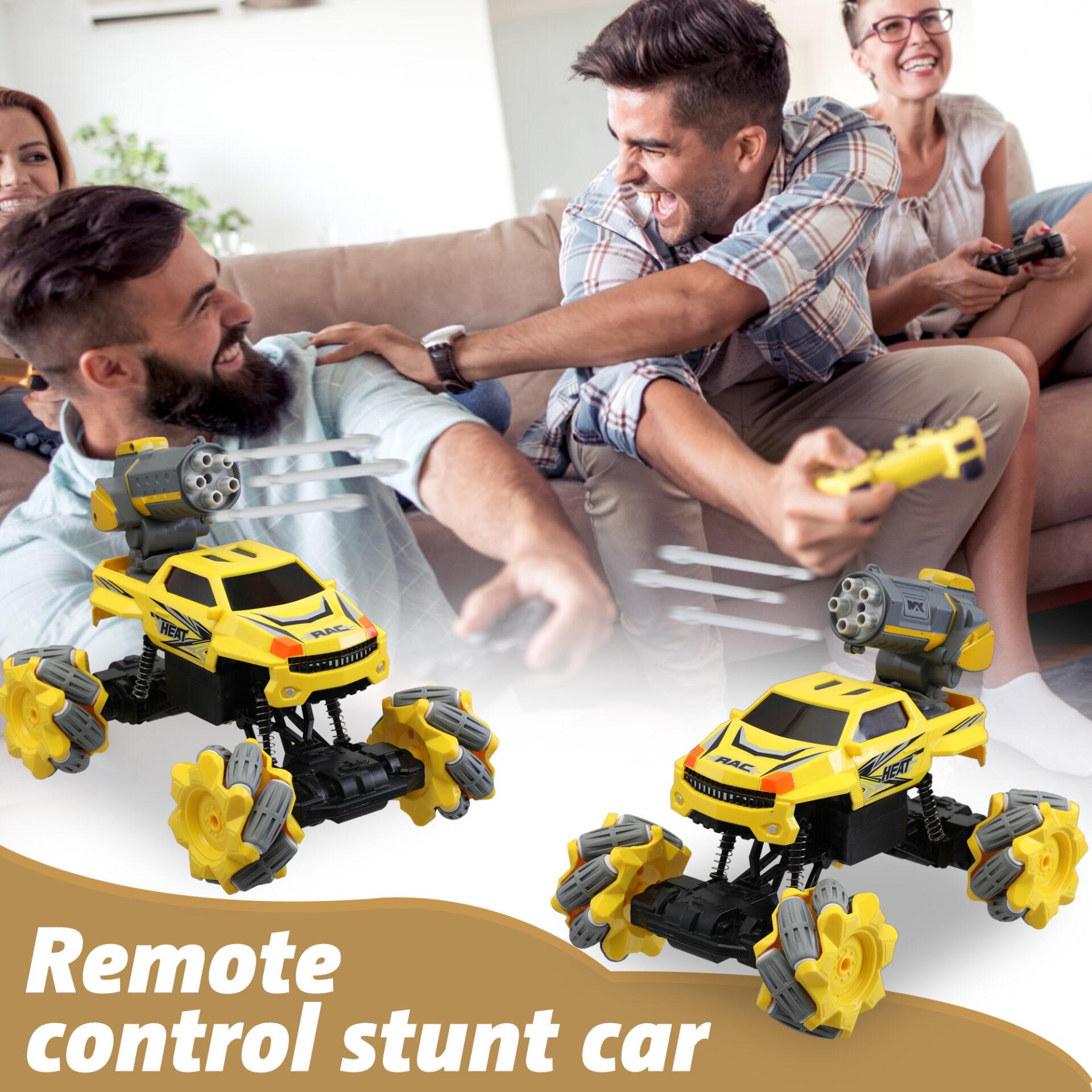 Gesture Sensing RC Stunt Car for Kids, Yellow 2 7