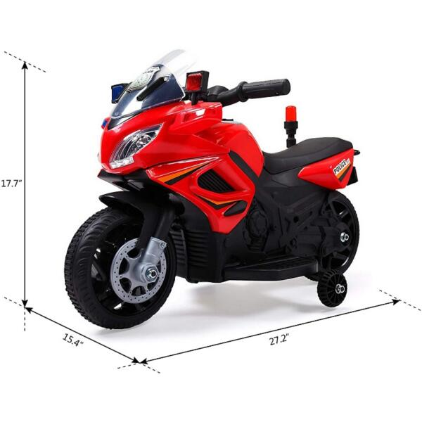 Kids Ride On Electric 4 Wheel Police Motorcycle for 2-4 Years 2 71