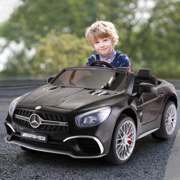 12V Mercedes Benz Licensed Kids Ride On Car with Remote Control, Black 2 74