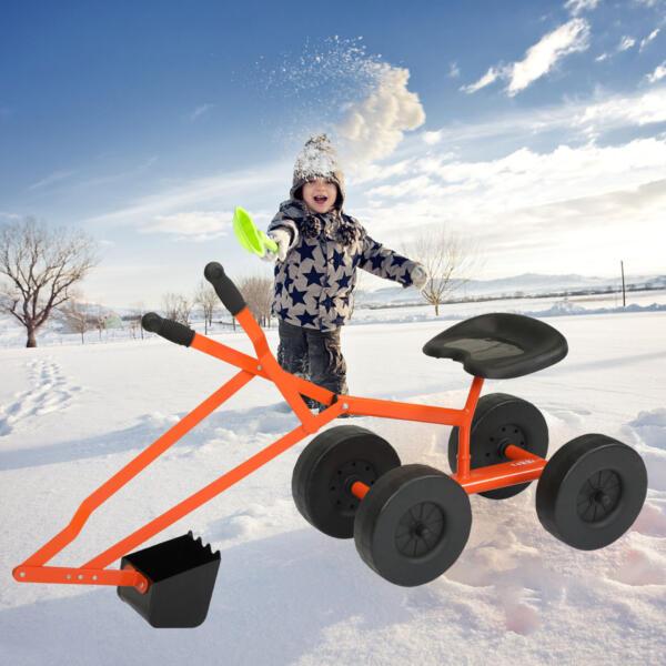 Kids Ride On Sandbox Digger Toys Little Sandbox Excavator for Boys and Girls, Orange 2 75