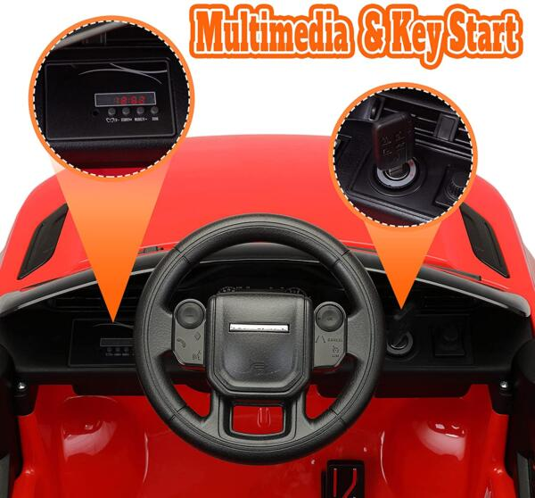 12V Land Rover Kids Power Wheels Ride On Toys With Remote, Red 2 81